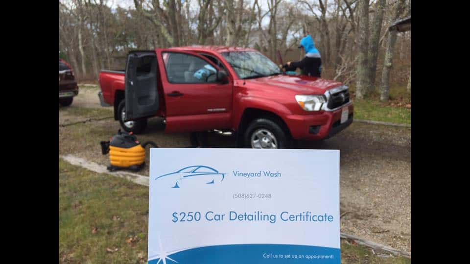 Vineyard Wash Auto Detailing Gift Certificates